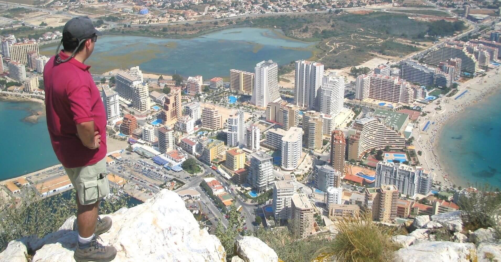 Panorámicas desde la Cumbre del Peñón de Ifach. Calpe, Alicante. Comunidad Valenciana.