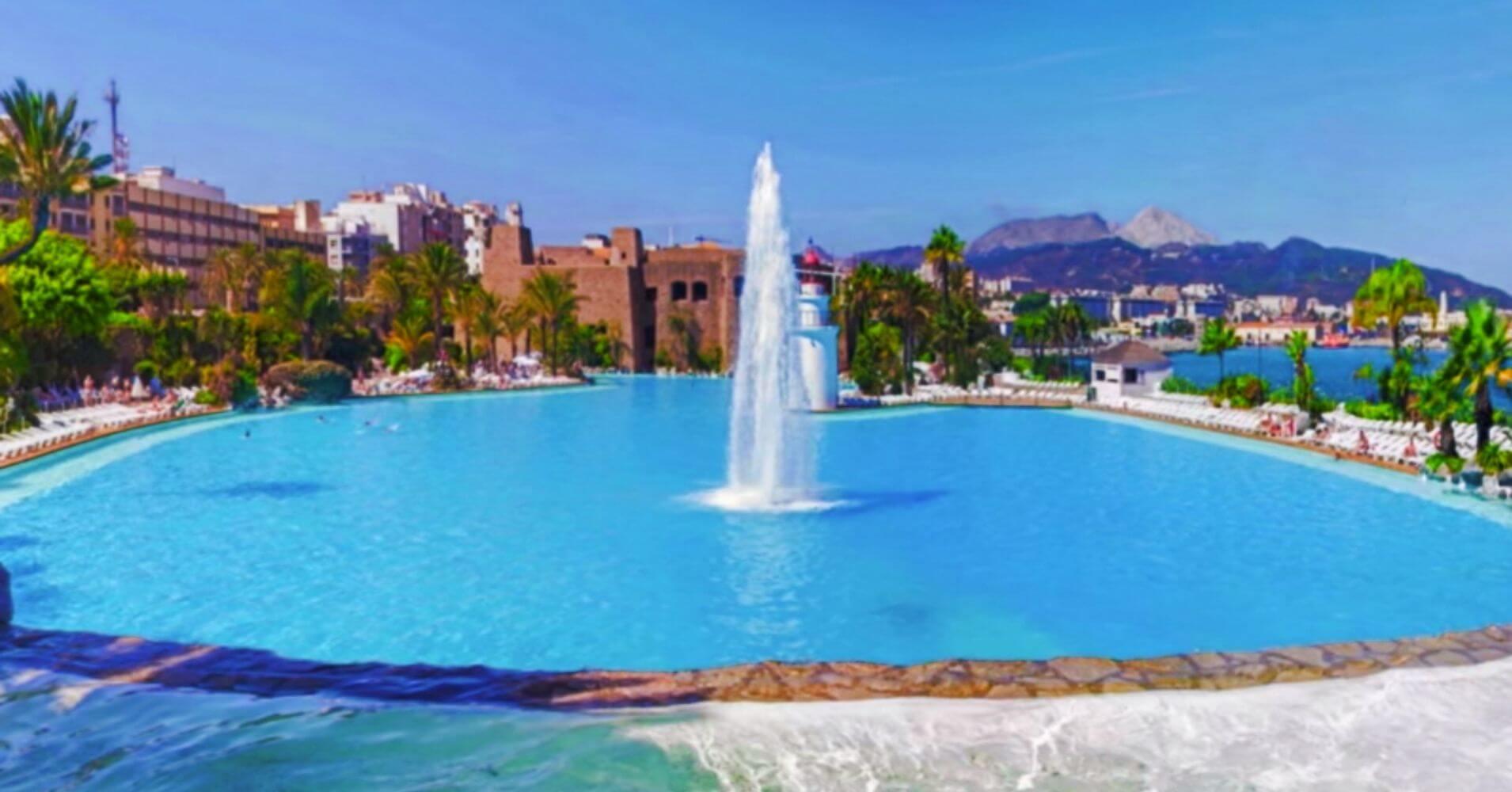 Parque Marítimo del Mediterráneo. Ceuta, España.