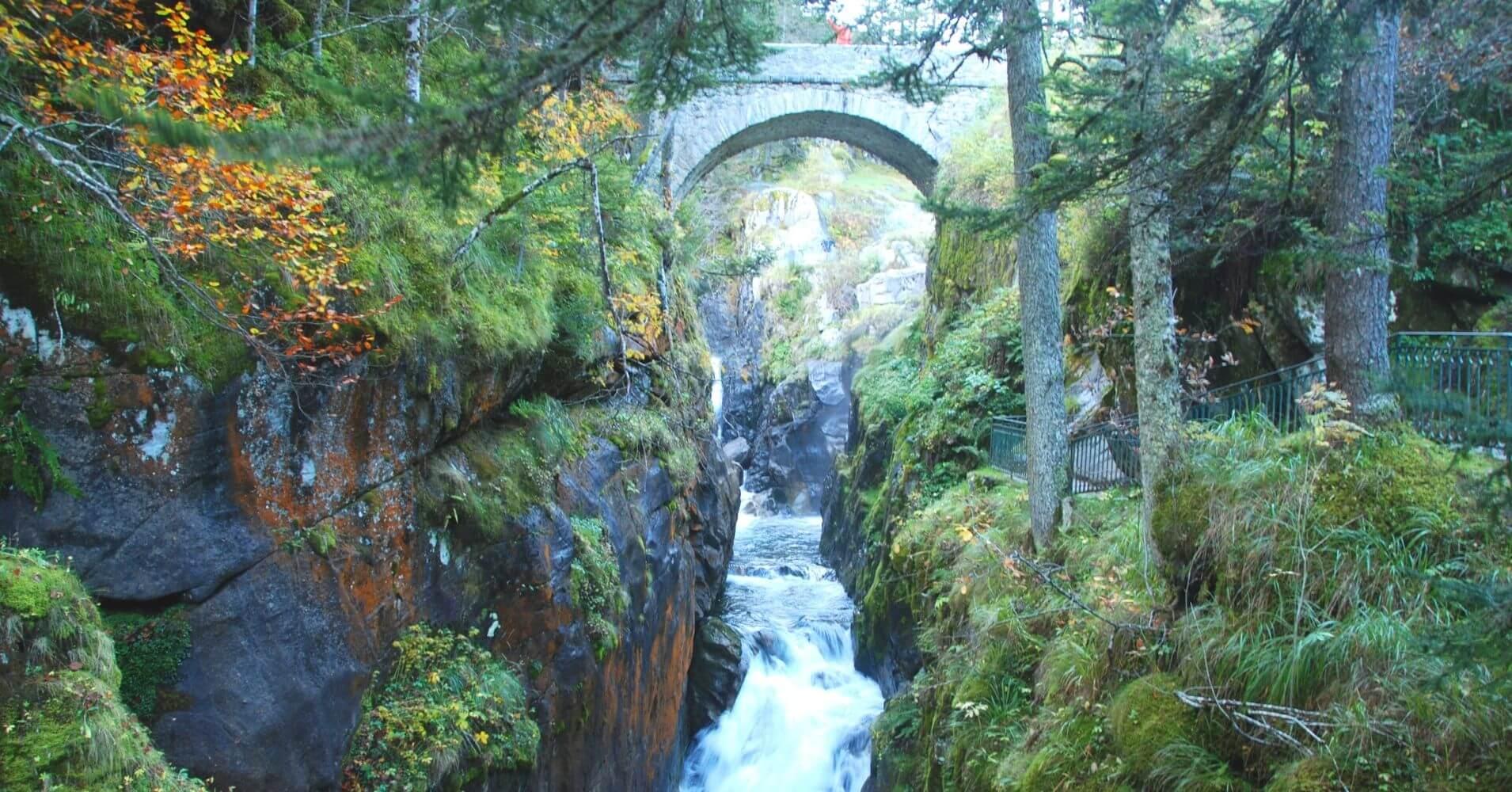 Parque Nacional de los Pirineos. Puente de España. Cauterets. Altos Pirineos. Occitania. Francia.