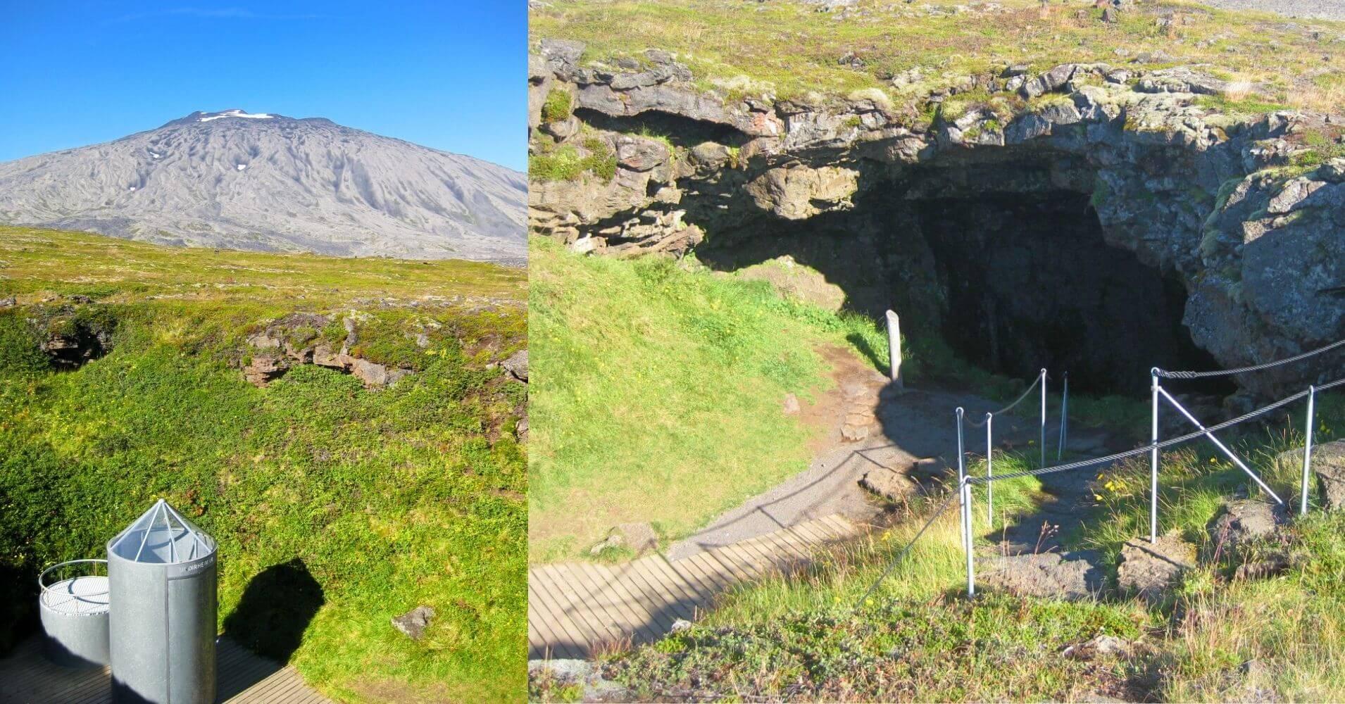Parque Nacional Snaefells. Cueva de Vatnshellir. Hellnar, Vesturland. Islandia.