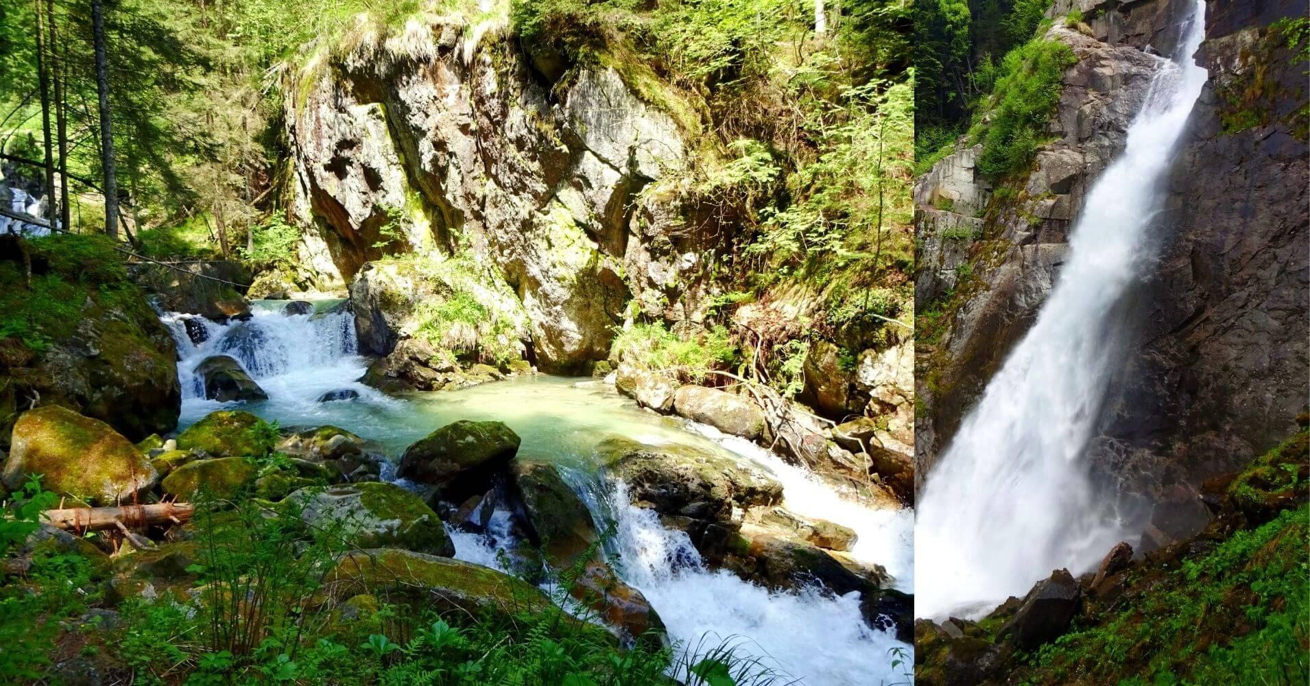 Parque Natural Adamello Brenta. Cascada de Lares. Madona di Campiglio. Véneto. Italia.