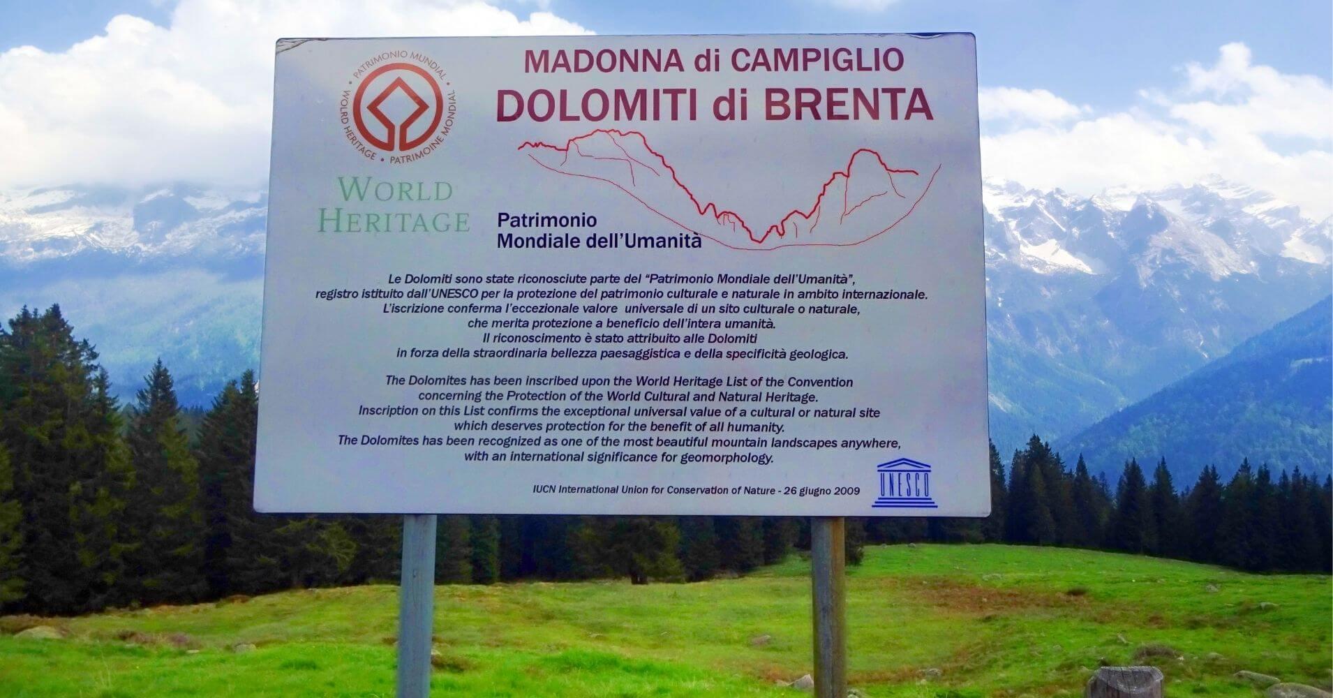 Parque Natural Adamello Brenta. Patrimonio de la Humanidad. Madona di Campiglio, Véneto. Italia.