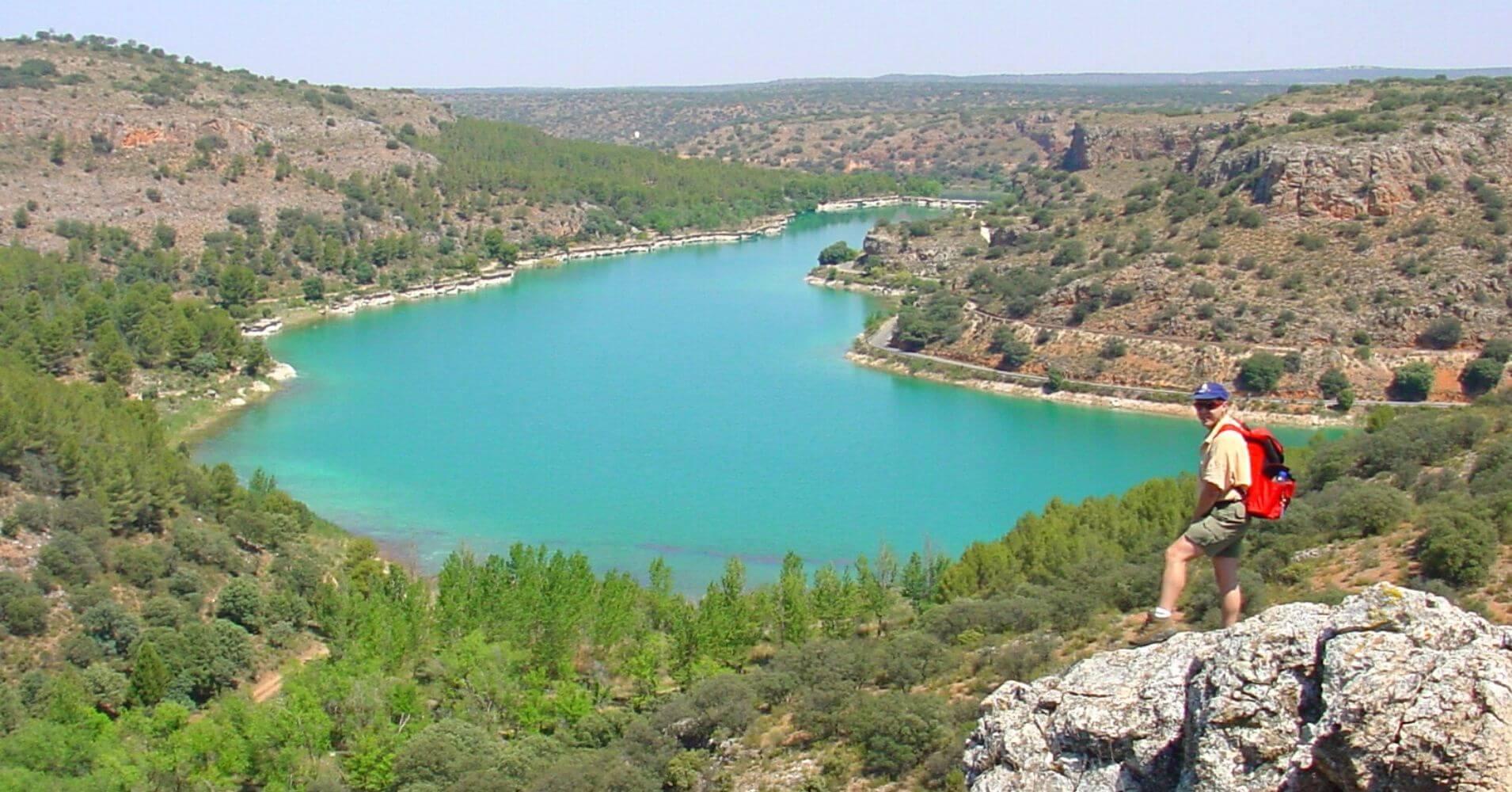 Parque Natural Lagunas de Ruidera. Laguna de la Lengua. Ciudad Real. Castilla la Mancha.