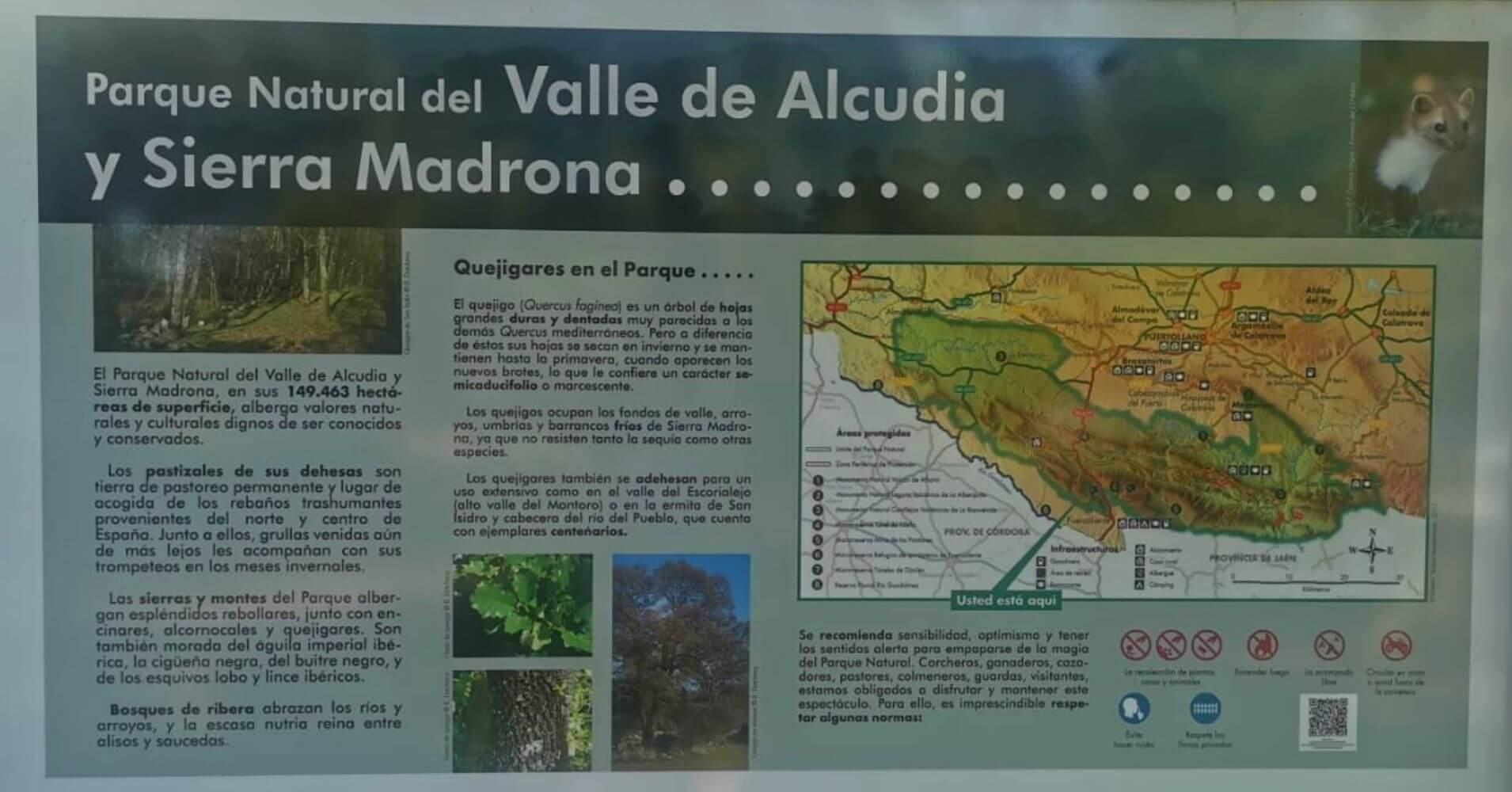 Parque Natural Valle de Alcudia y Sierra Madrona. Ciudad Real en Castilla La Mancha.