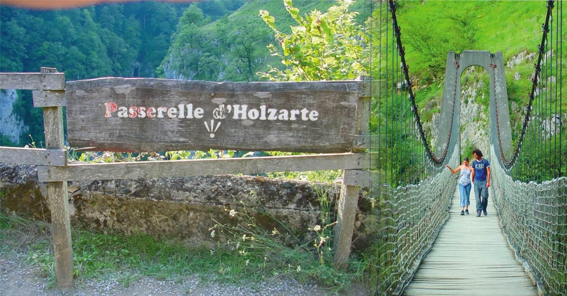 Pasarela de Holzarte. Larrau, Pirineos Atlánticos. Nueva Aquitania. Francia.