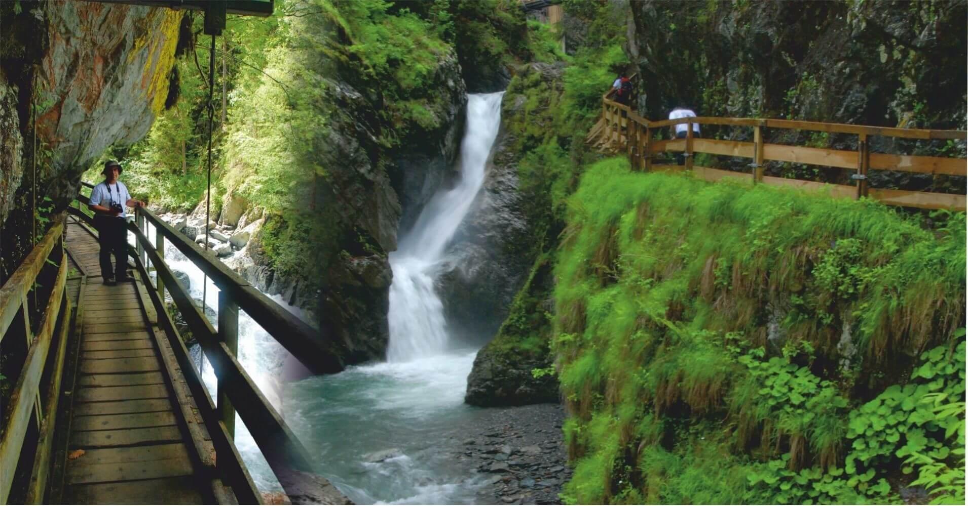 Pasarelas y Cascadas en las Gargantas. Alta Saboya. Auvernia-Ródano-Alpes, Francia.