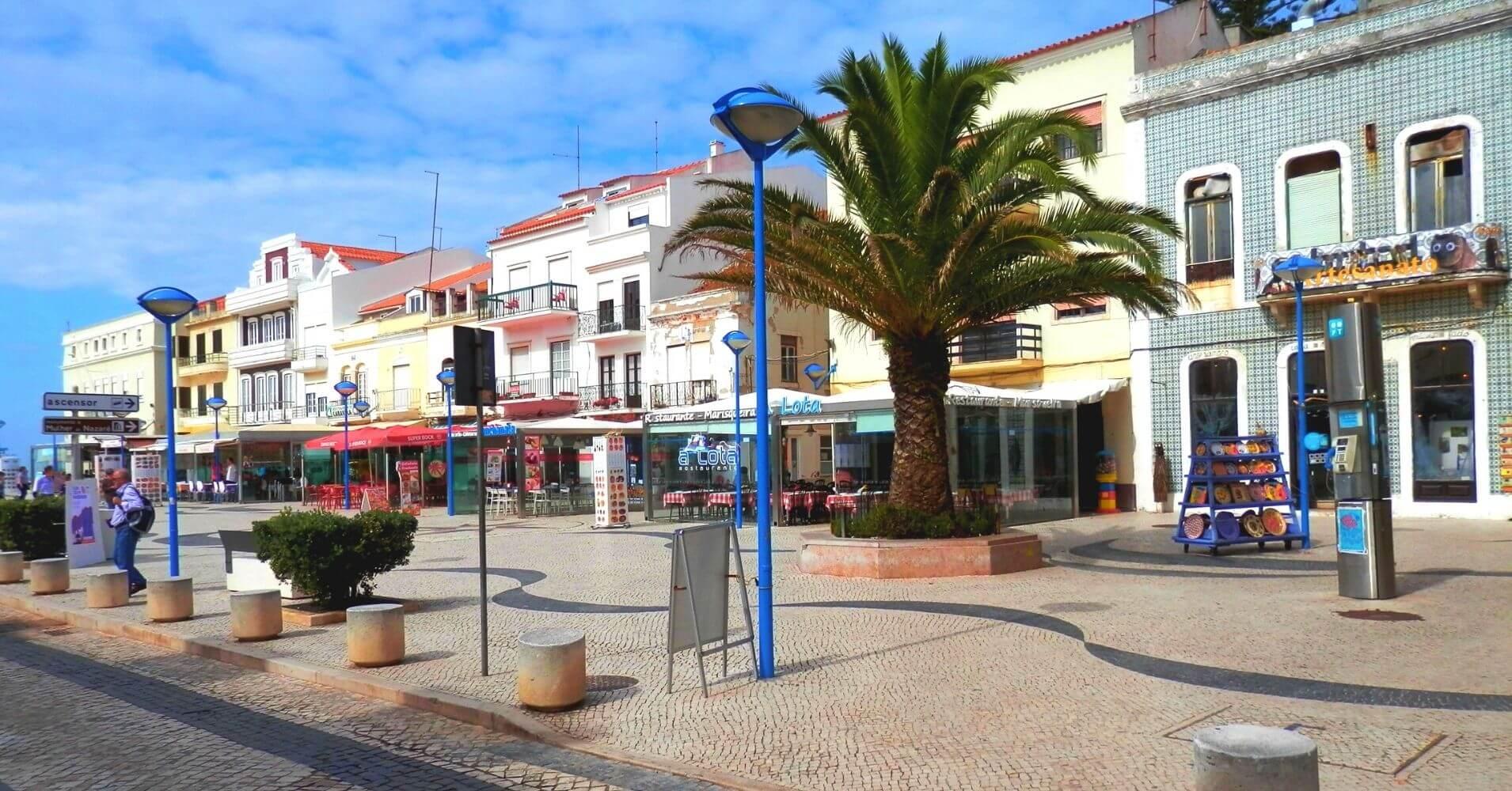 Paseo Marítimo de Nazaré, Portugal.