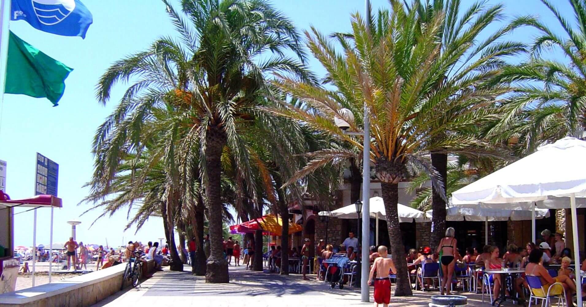 Paseo Marítimo Playa Larga. Tarragona, Cataluña.