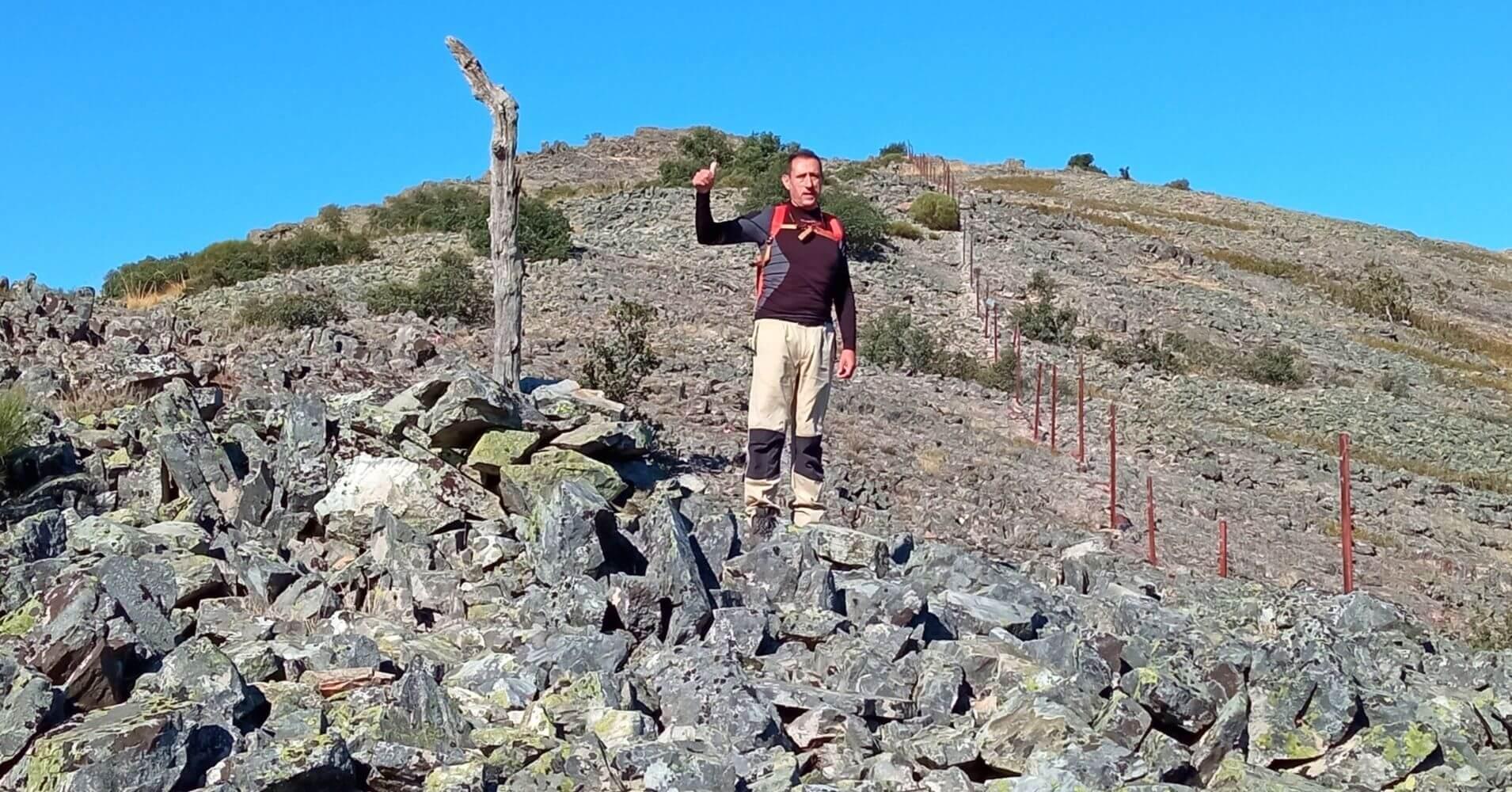 Pedregal Camino del Cerro Vicente 1430m. Montes de Toledo. Las Navillas, Menasalbas. Castilla la Mancha.