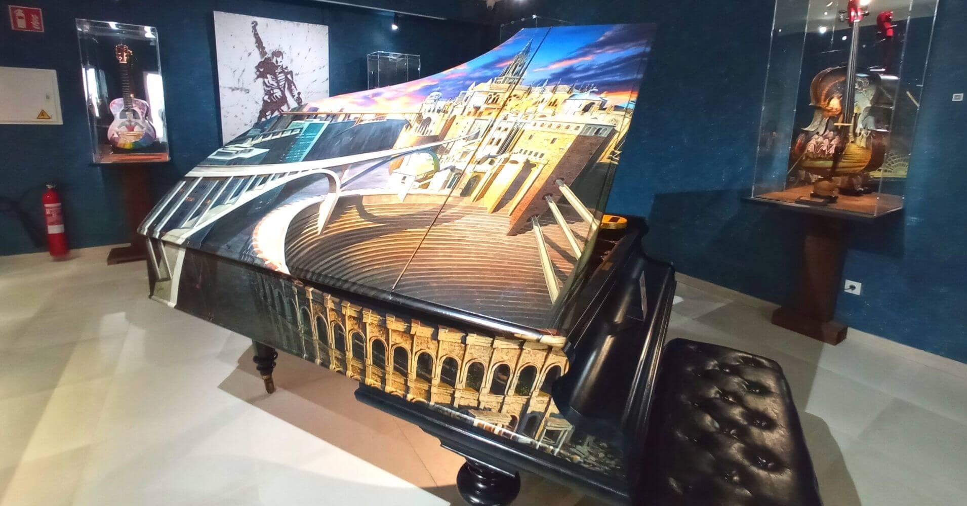 Piano de Cola Bechstein del 1896. Museo Cromática Toledo.