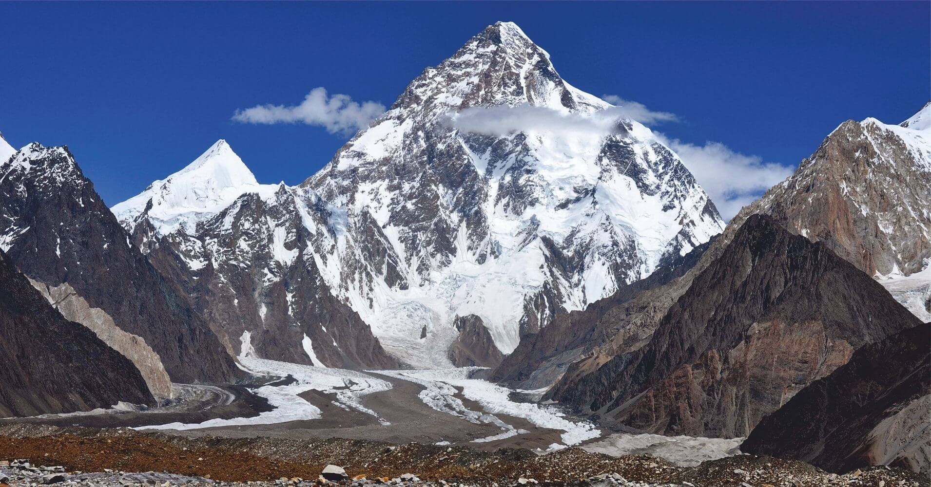 Pico y Glaciar del K2, Pakistán.