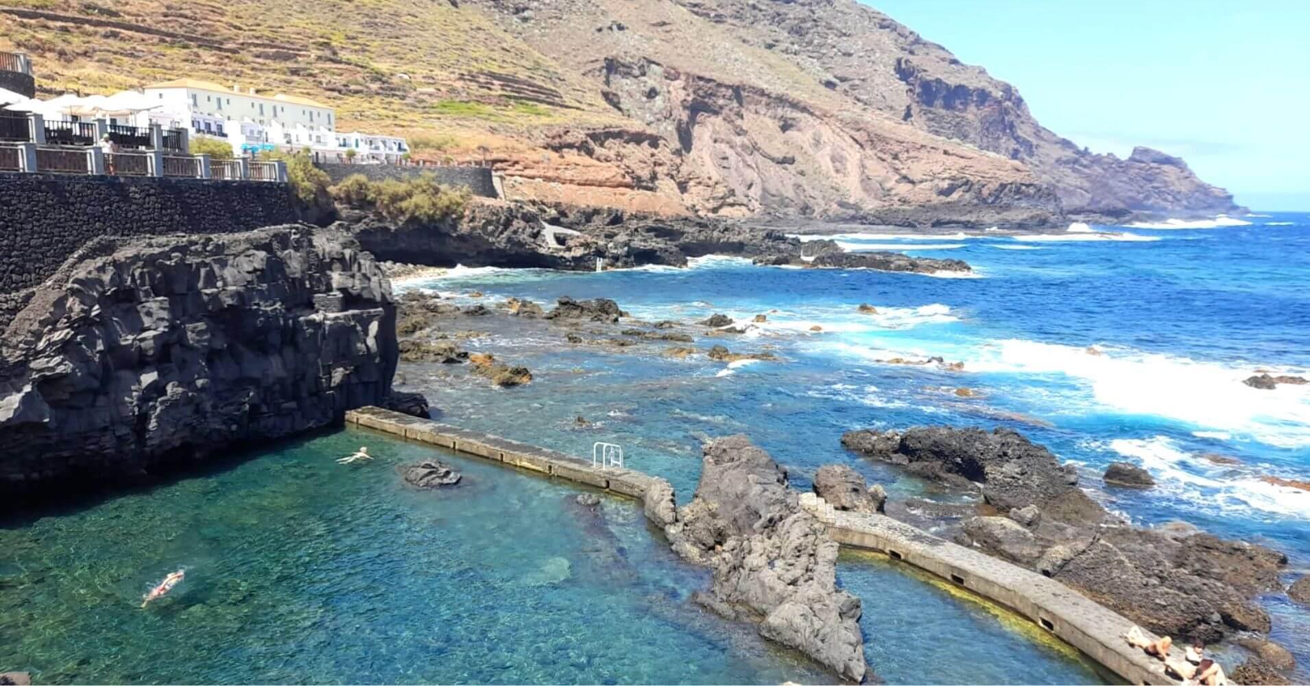 Piscinas Naturales de La Fajana. La Palma. Islas Canarias.