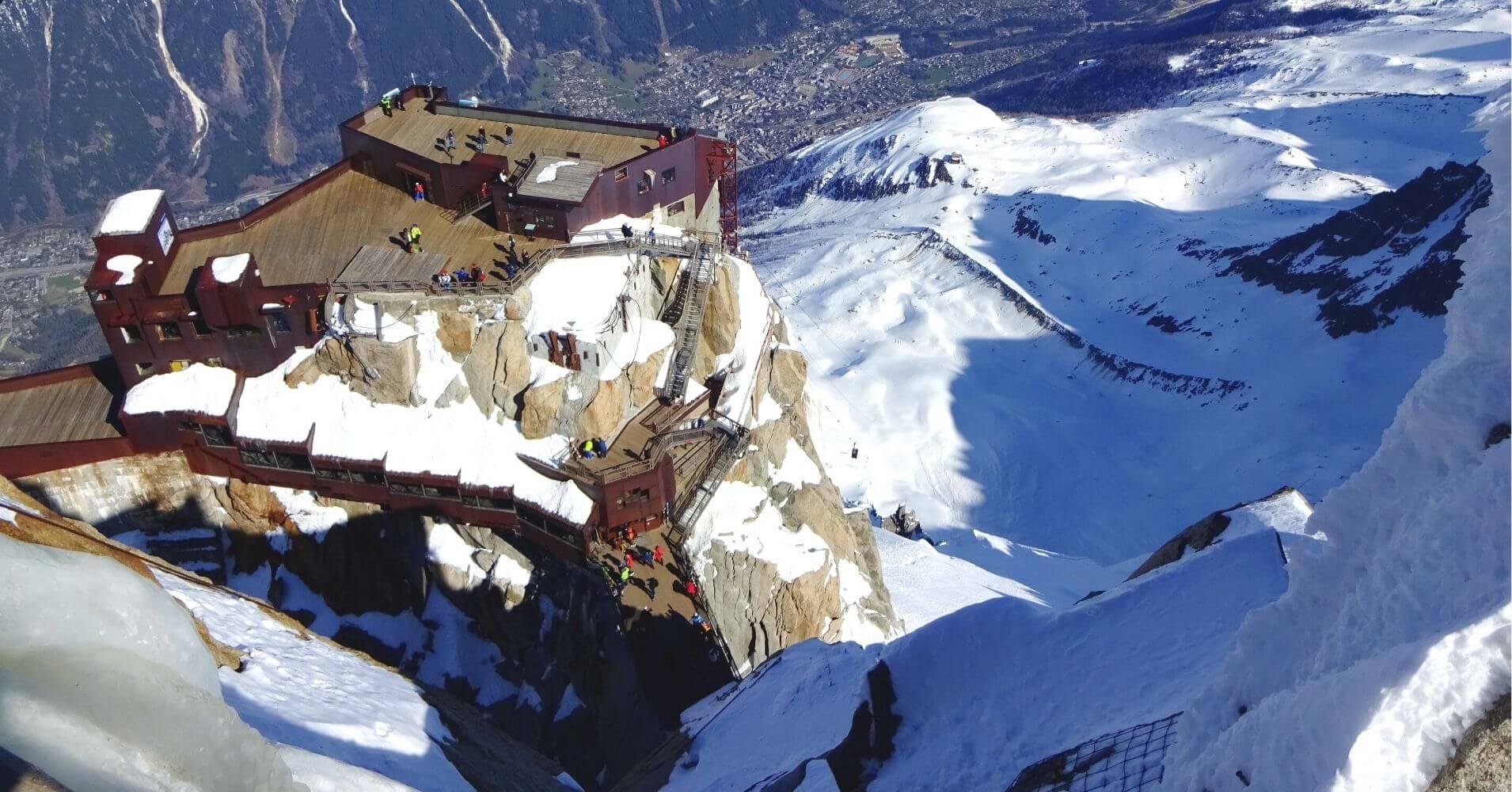 Plataforma Estación de Aiguille du Midí. Viaje a Chamonix. Alta Saboya. Auvernia-Ródano-Alpes. Francia.