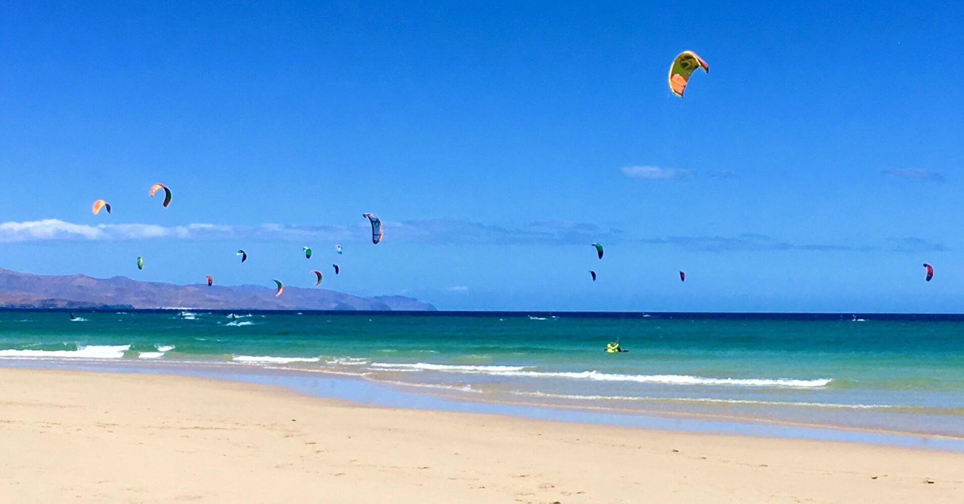 Playa de Jandía. Kitesurf. Canarias.