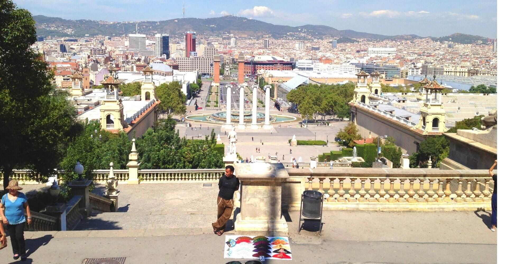 Montjuïc y Plaza de España. Barcelona, España.