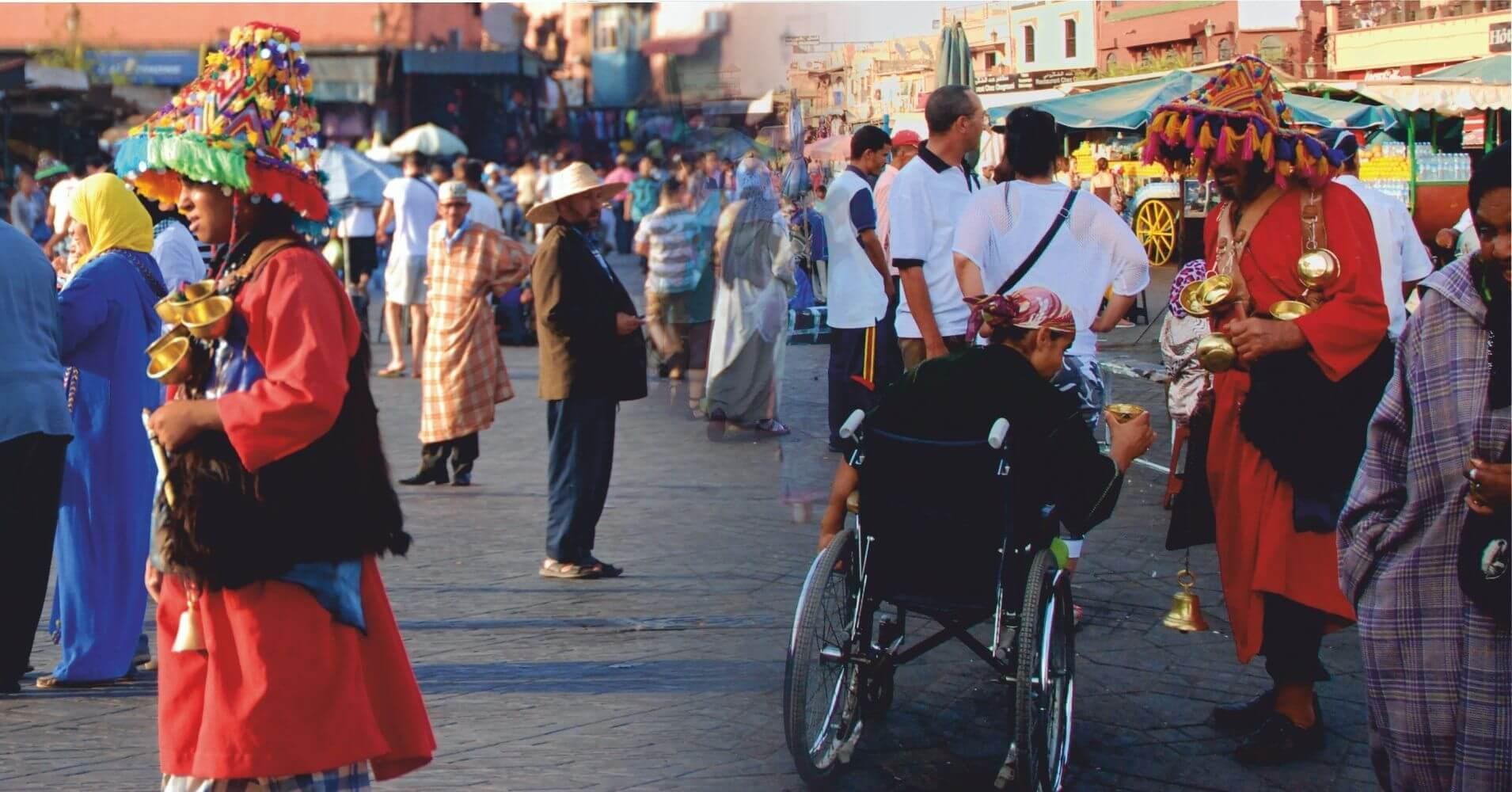 Plaza de Jamaa el Fna, Marrakech. Marruecos.