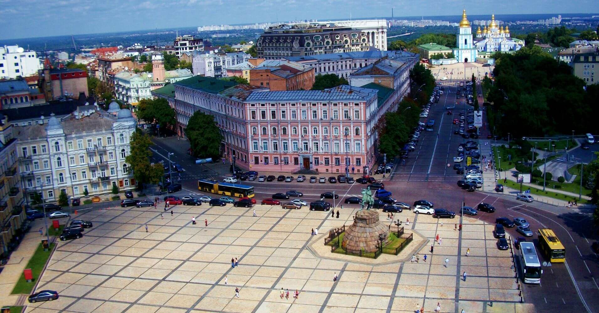 Plaza de la Independencia, Kiev. Ucrania.