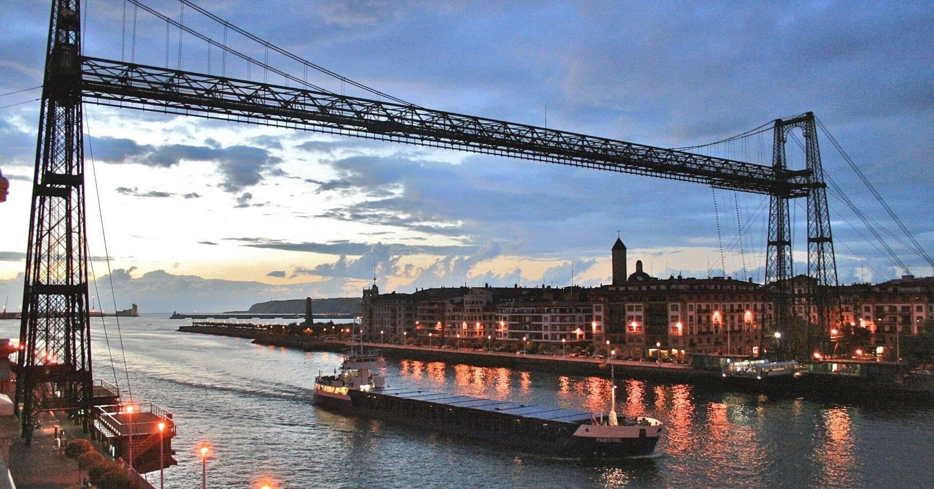 Puente Colgante de Vizcaya o de Portugalete. Bilbao, Euskadi. País Vasco.