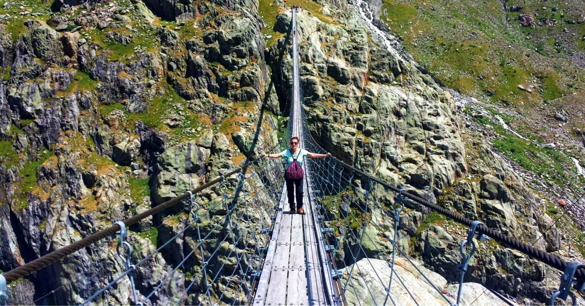 Puente de Trift. Triftbrücke. Suiza.