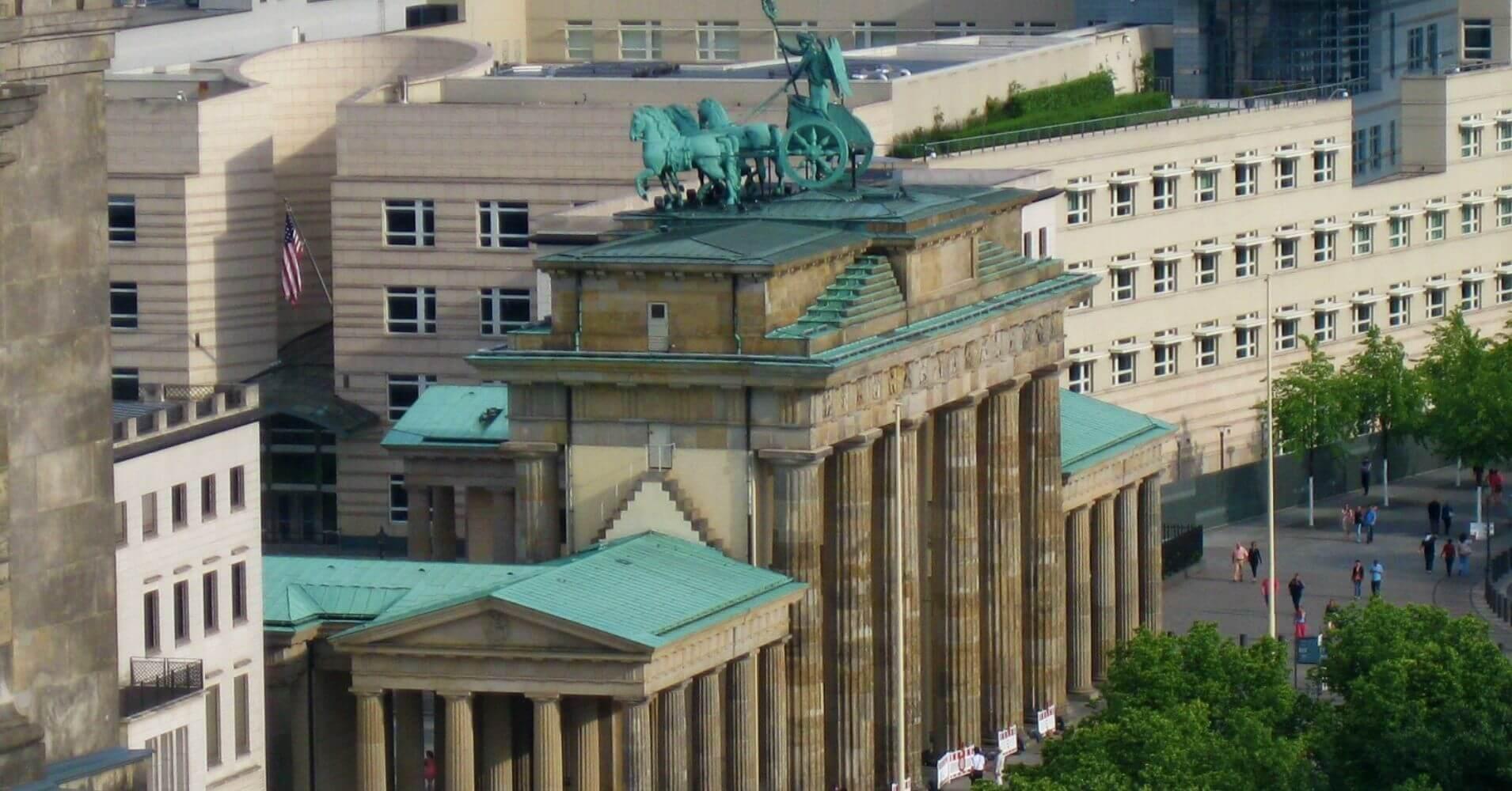 Puerta de Brandeburgo. Berlín. Alemania.