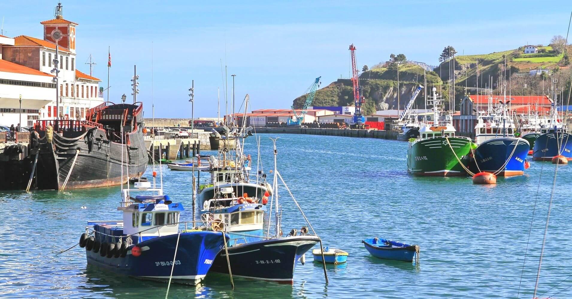Puerto de Bermeo. Vizcaya. Euskadi, País Vasco.
