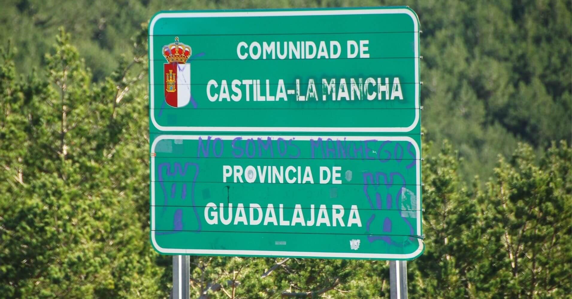 Puerto de la Quesera. Cartel Castilla La Mancha. Guadalajara.