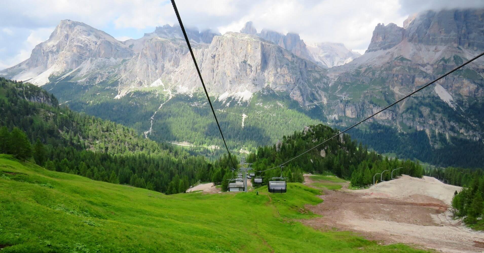 Remonte del las Cinque Torri. Cinco Torres. Dolimtas, Cortina d' Ampezzo. Belluno, Véneto. Italia.