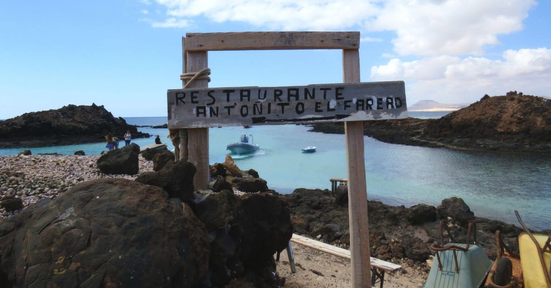 Restaurante Antoñito. Isla de Los Lobos. Fuerteventura. Islas Canarias.