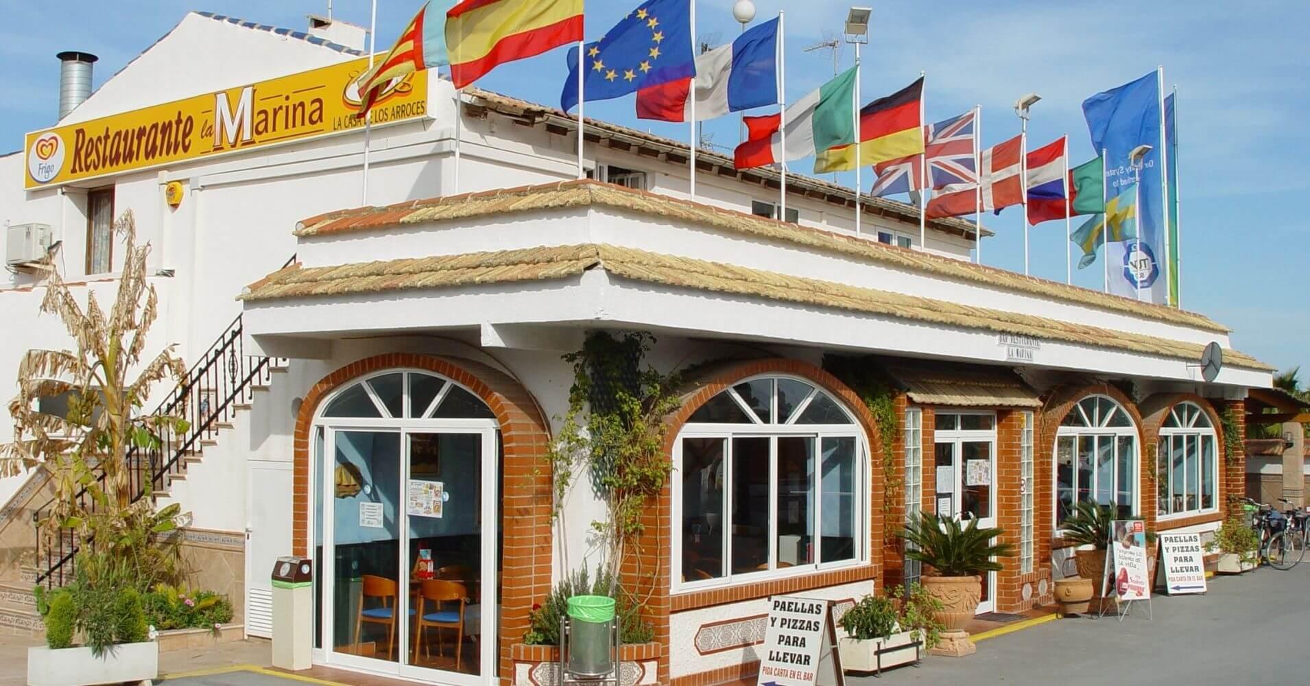 Restaurante del Resort. Elche. Alicante. Comunidad Valenciana. España.