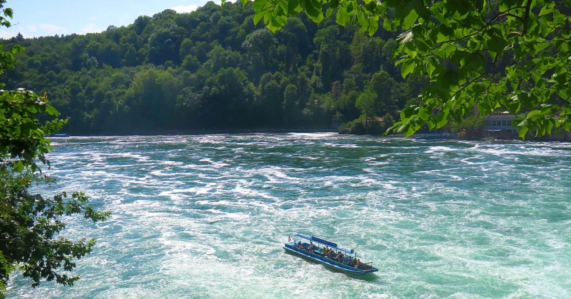 Rheinfall, Salto del Rin. Schffhausen. Suiza.