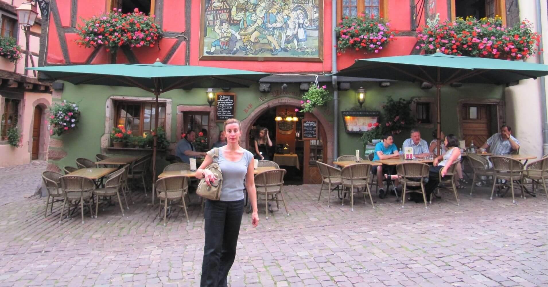 Riquewihr un pueblo bonito. Alsacia, Alto Rin en Gran Este. Francia.