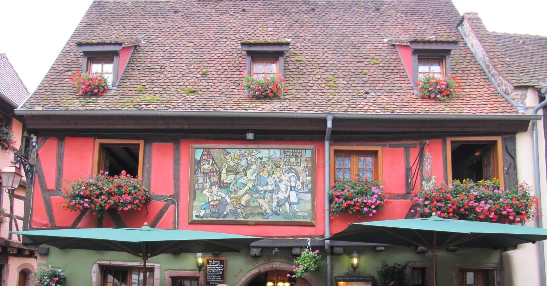 Riquewihr un pueblo bonito. Alsacia en Alto Rin. Gran Este. Francia.