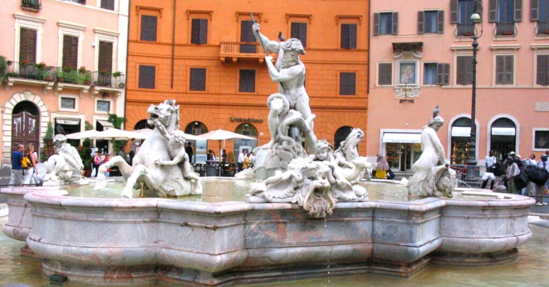 Roma Capital del imperio. Plaza Navona, Roma. Lacio. Italia.
