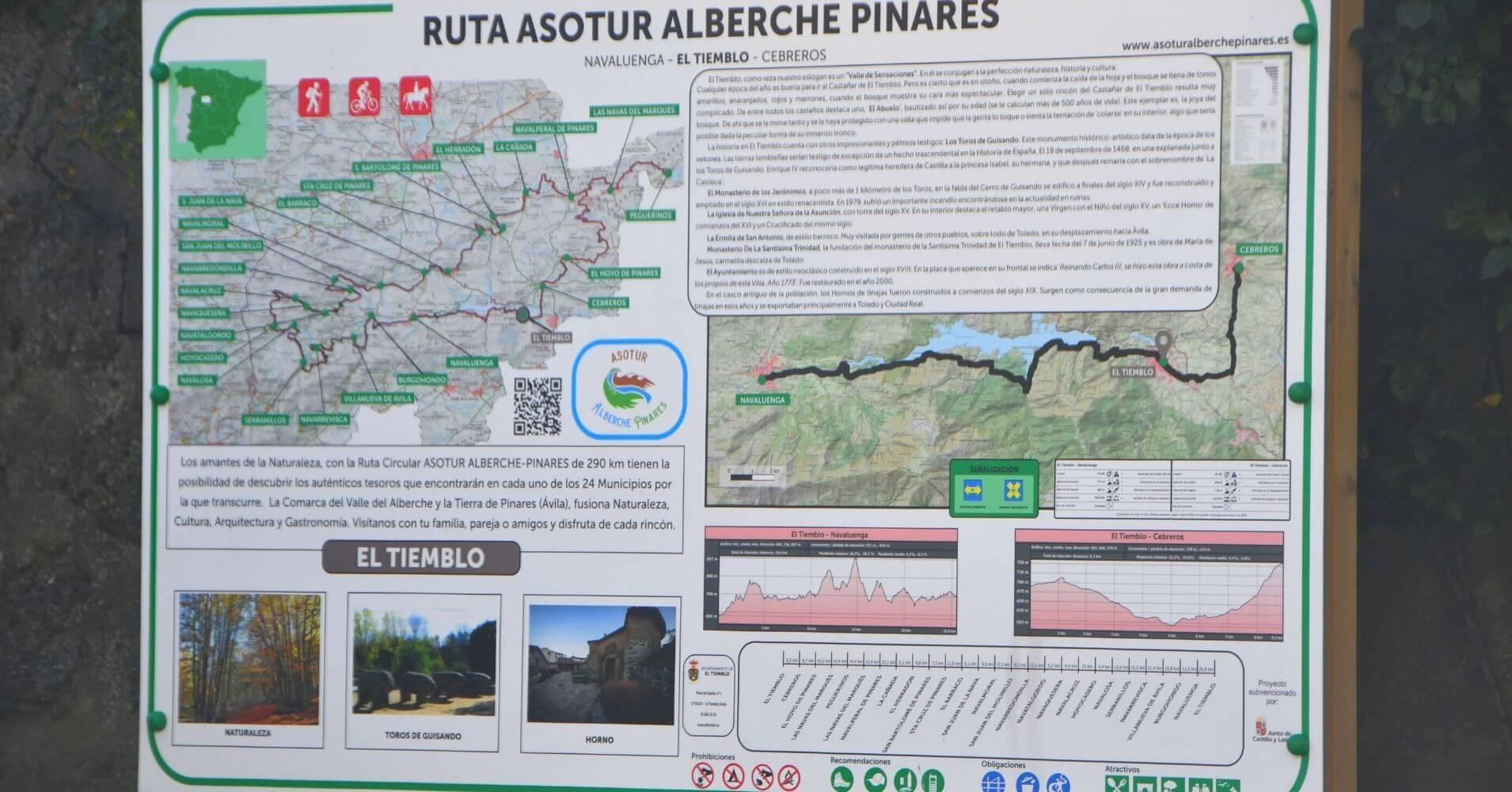Ruta Asotur El Alberche Pinares. Navaluenga, El Tiemblo, Cebreros. Ávila, Castilla y León.