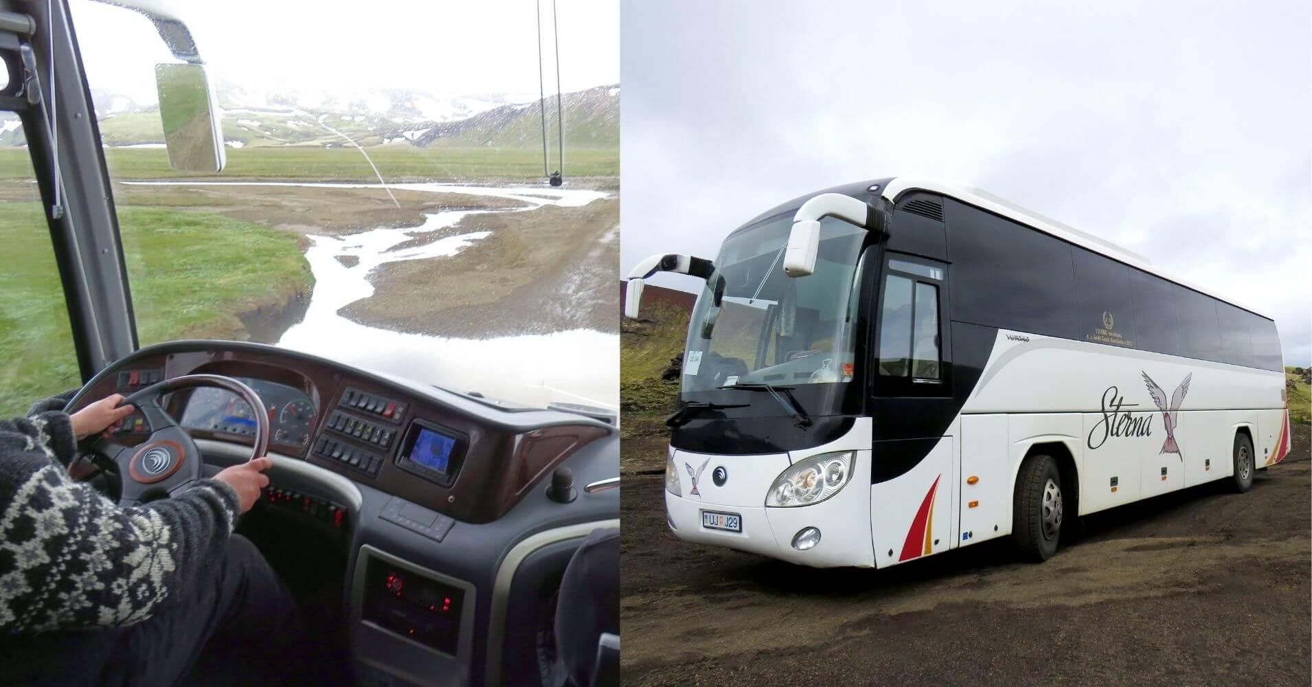 Ruta Autobús 4x4. Landmannalaugar Tierras Altas de Islandia.