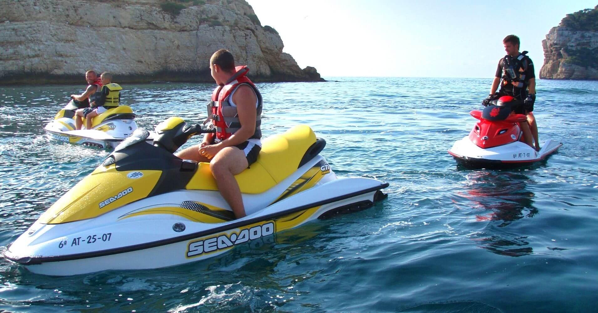 Ruta en Moto de Agua a las Cuevas del Cabo de la Nao. Jávea. Alicante, Comunidad Valenciana.