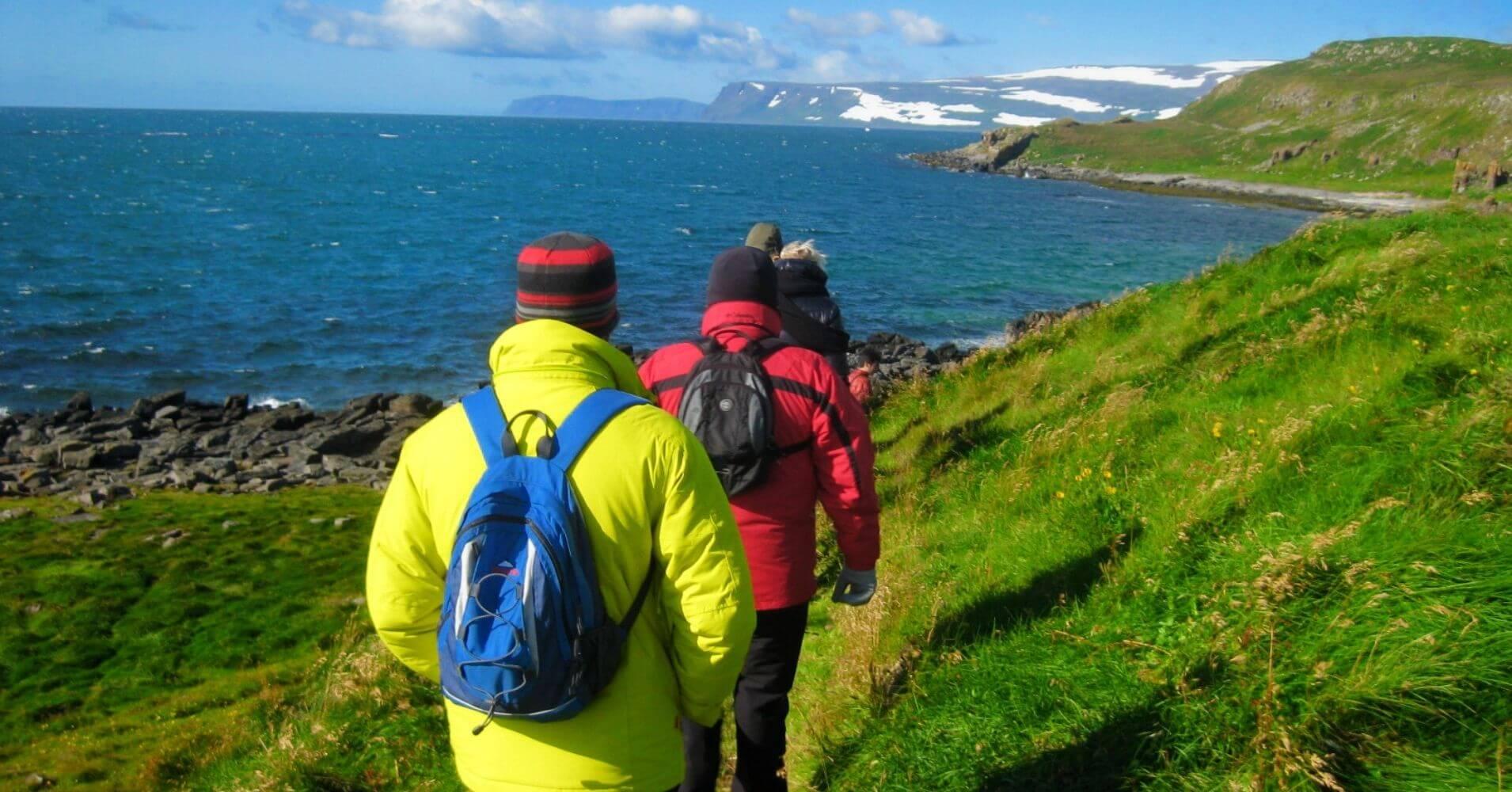 Ruta de Senderismo. Ísafjörður. Vestfirðir en Islandia.