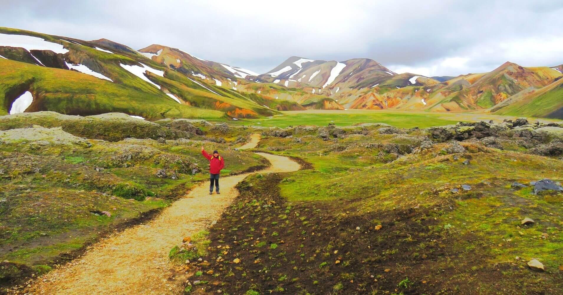 Ruta Senderismo Landmannalaugar. Tierras Altas de Islandia.
