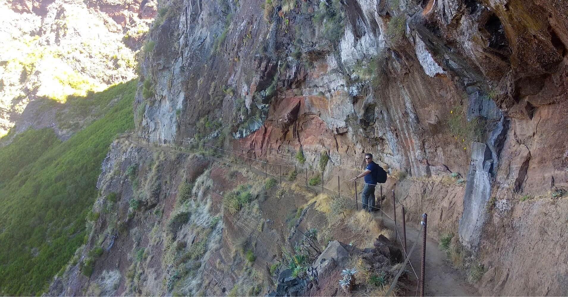 Ruta Vereda do Areeiro. Madeira, Portugal.