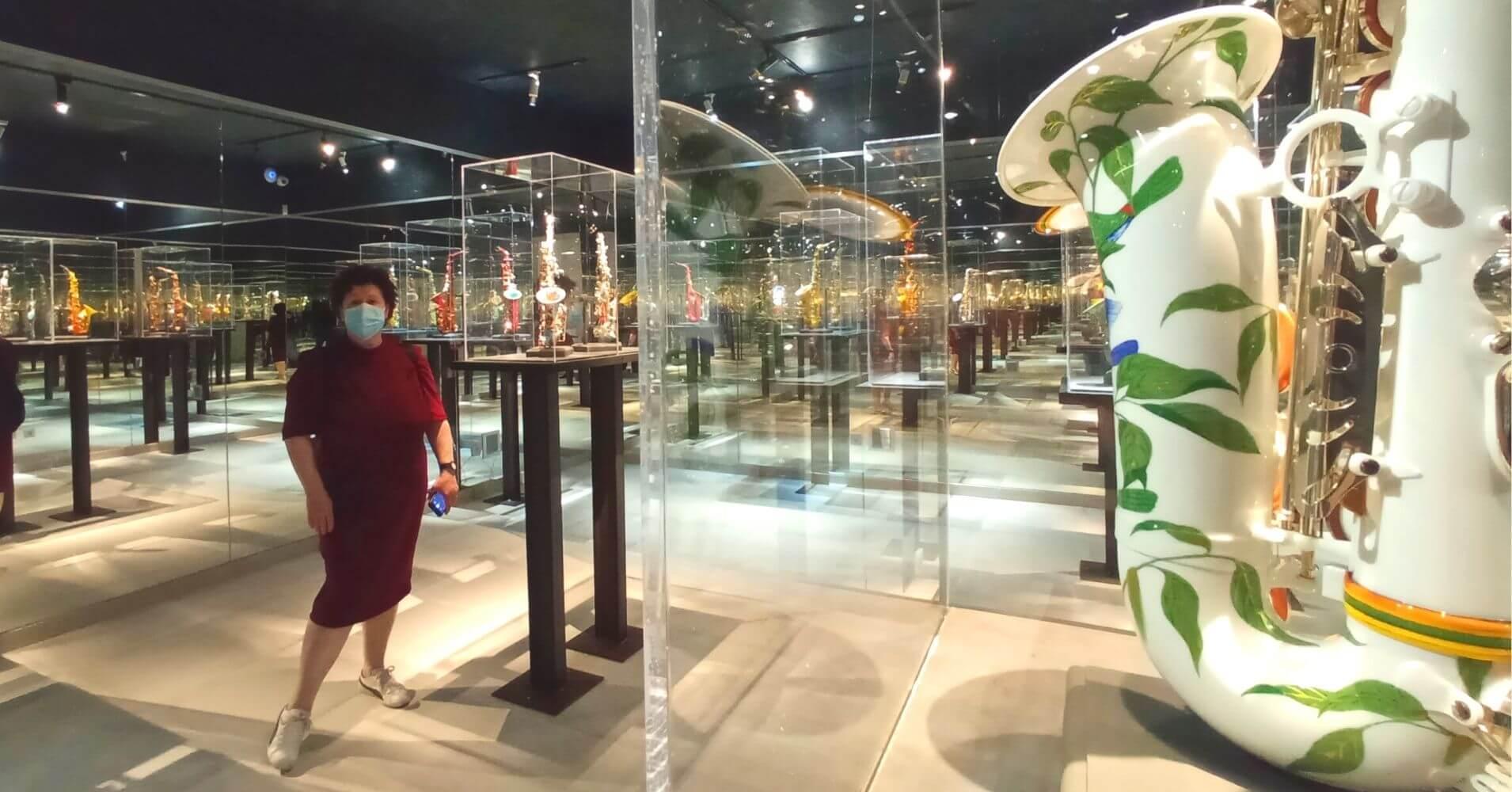 Sala de los Espejos o Saxofones. Museo Cromática Toledo.