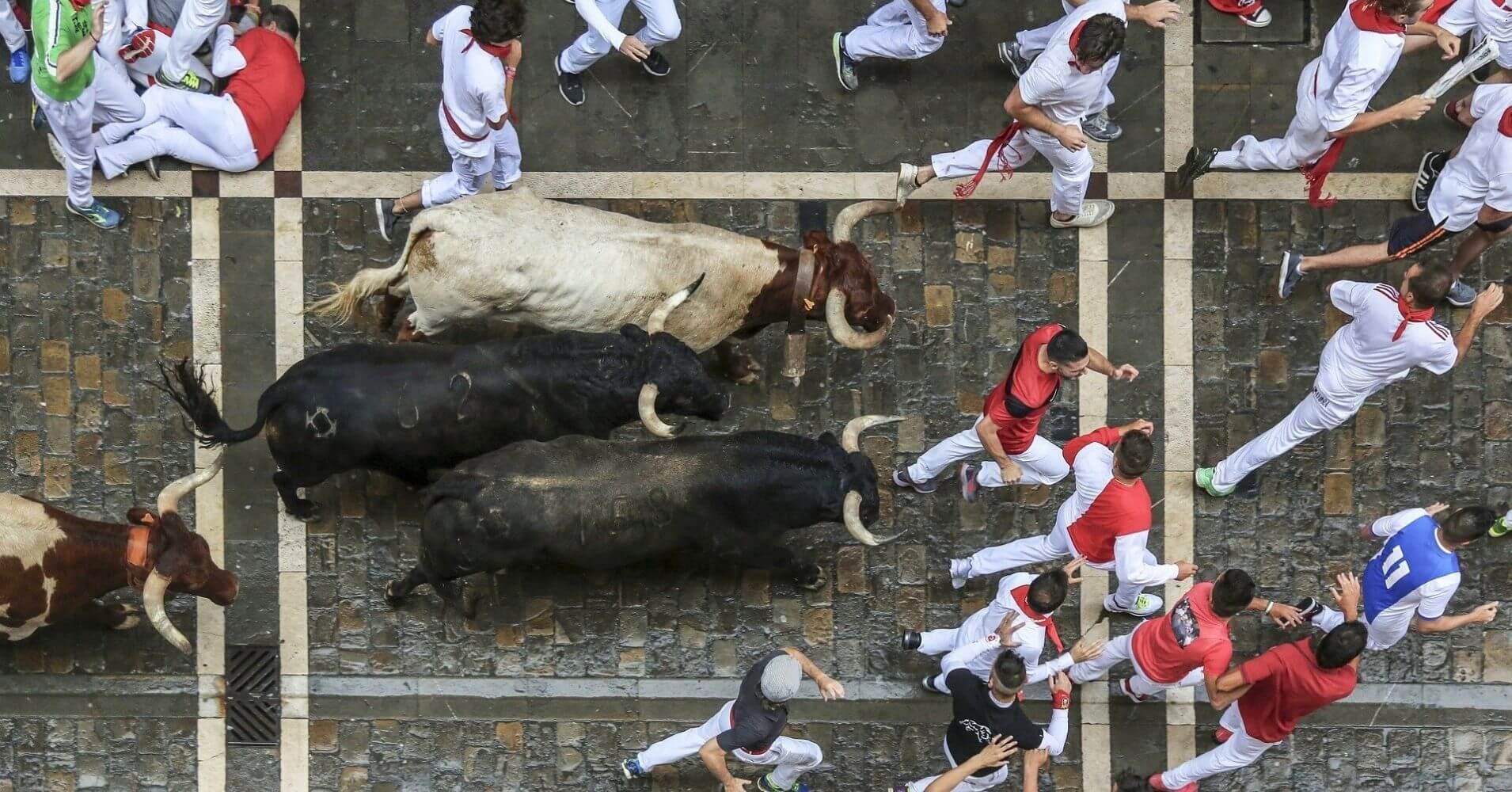 Encierros de San Fermín, Pamplona.
