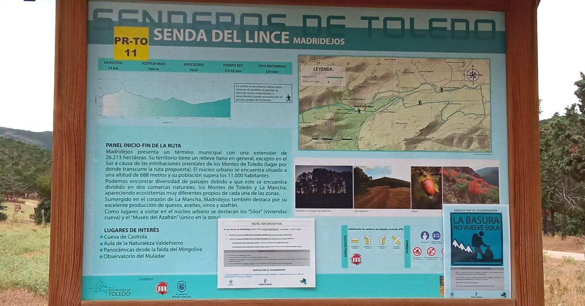 Senda del Lince. PR-TO 11. Madridejos, Toledo. Castilla La Mancha.