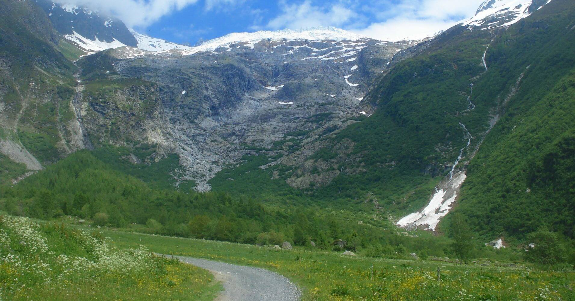 Sendero del TMB. Cordillera de los Alpes. Italia, Suiza, Francia.