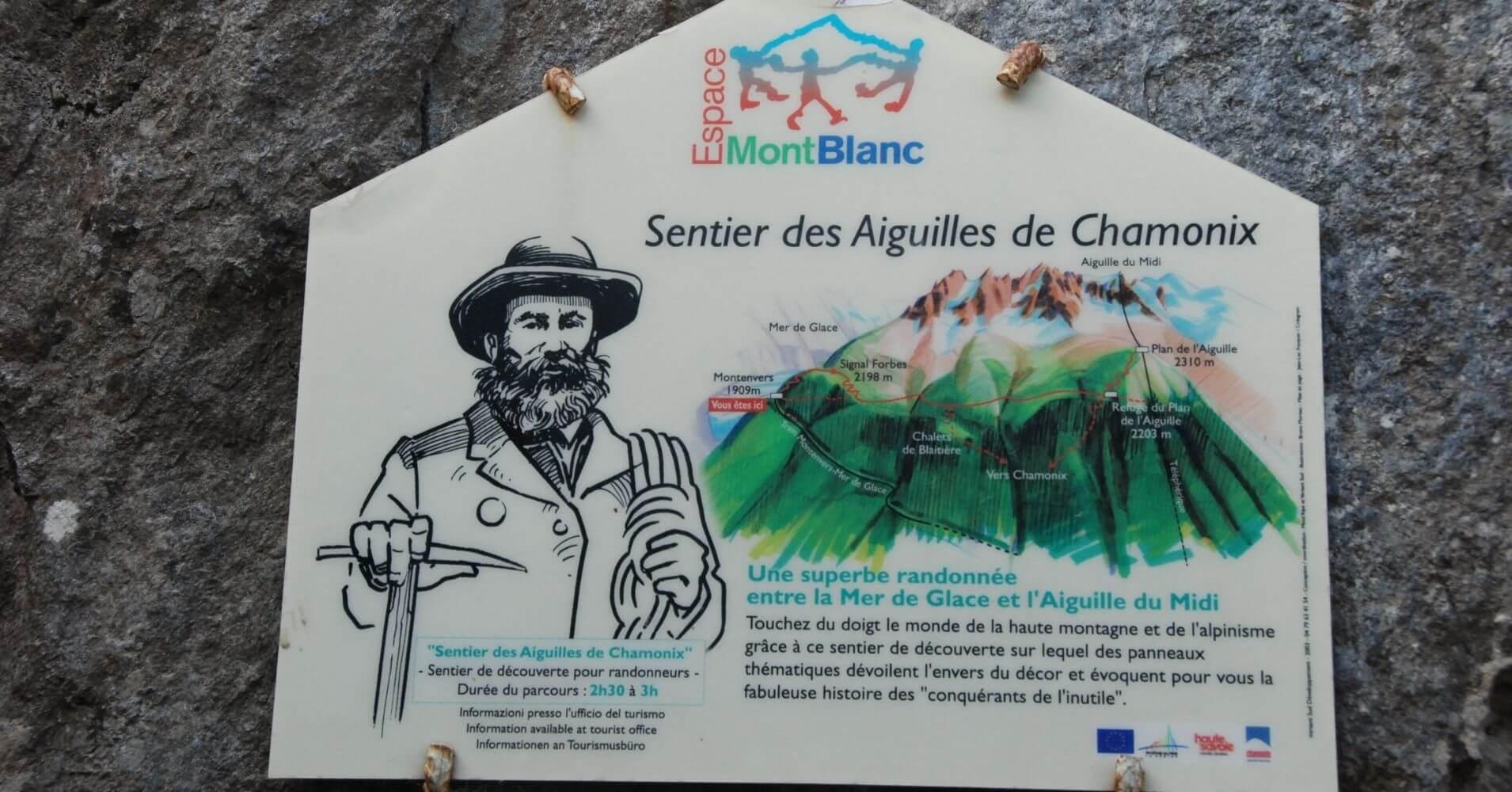Senderos des Aguilles de Chamonix. Alta Saboya. Auvernia-Ródano-Alpes. Francia.