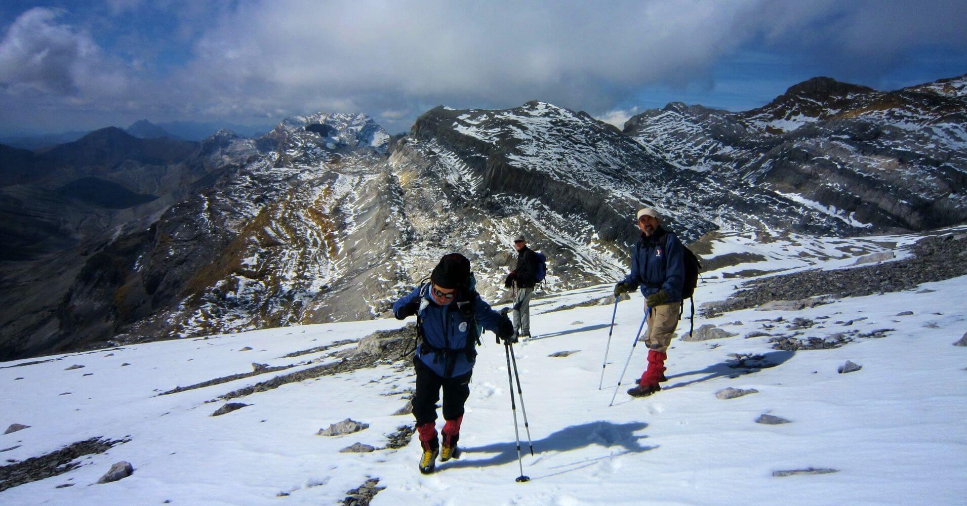 Subida al Monte Perdido. Parque Nacional de Ordesa, Huesca. Aragón. España.