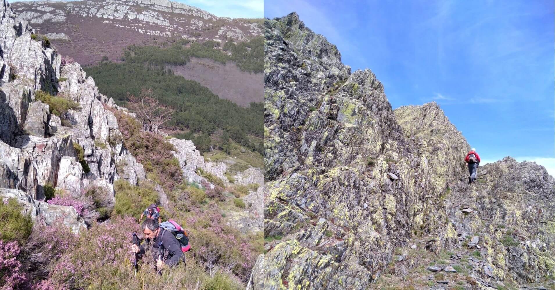 Subida Campo a Través a La Cresta de las Becerras. Sierra de Ayllón. Guadalajara. Castilla La Mancha.