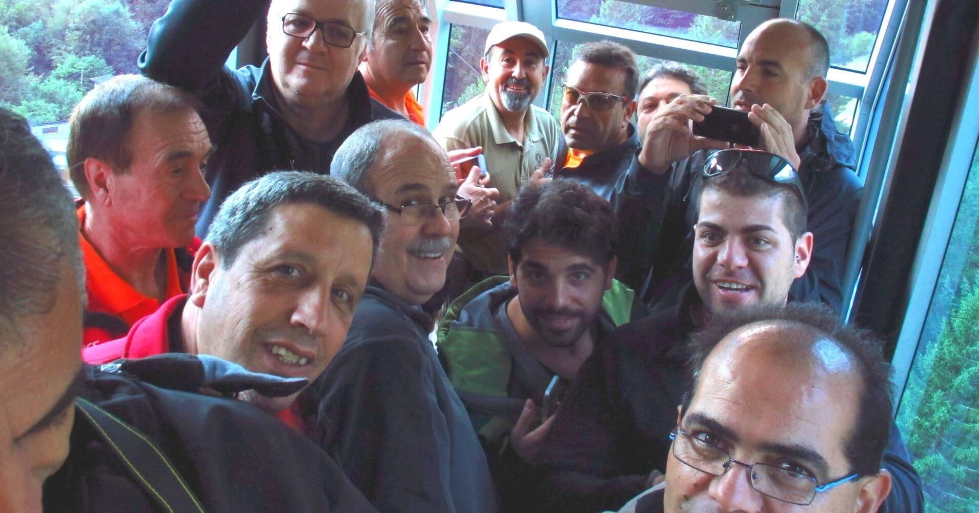 Subida Teleférico de Fuente Dé. Cantabria.