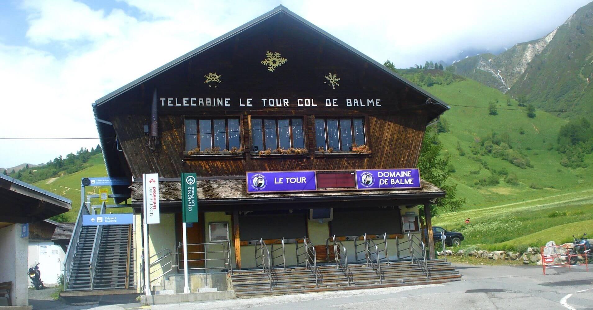 Telecabina Le tour. Col de Balme. Cordillera de los Alpes.