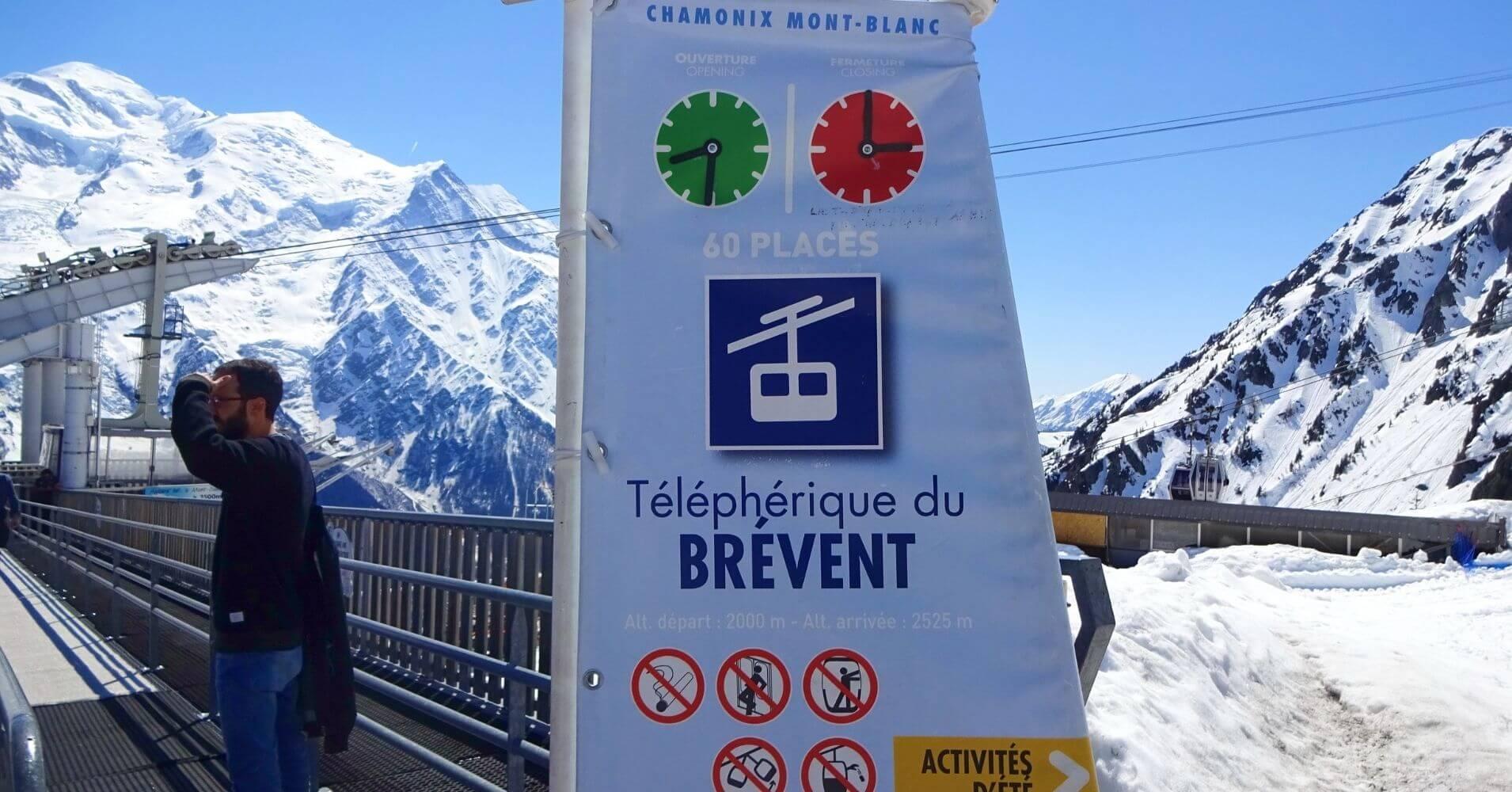 Teleférico de Brevent. Chamonix. Alta Saboya, Auvernia-Ródano-Alpes. Francia.