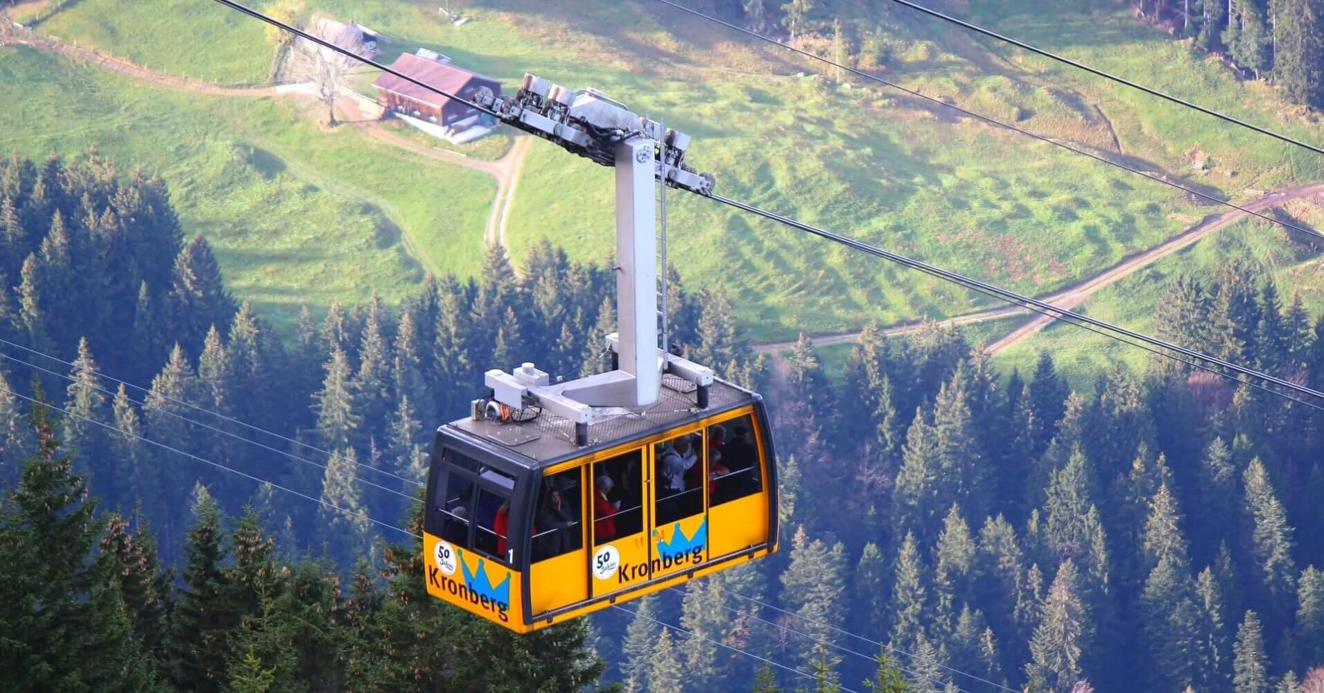 Teleférico Kronberg Luftseilbahn. Suiza.